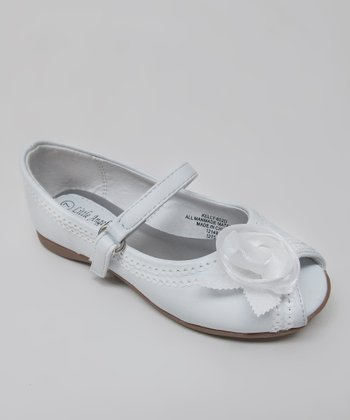 White Kelly Peep-Toe Mary Jane