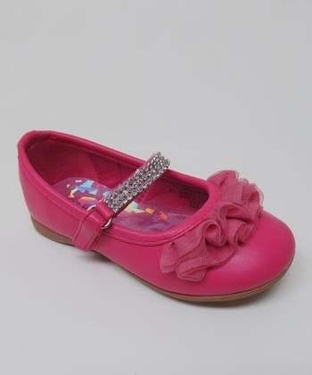 Fuchsia Rhinestone Ruffle Kelly Mary Jane