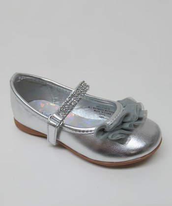 Silver Rhinestone Ruffle Kelly Mary Jane