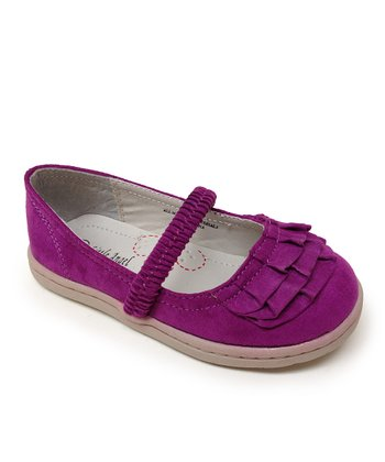 Purple Love Ruffle Flat