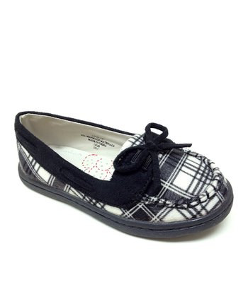 Black Plaid Love Flat
