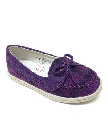 Purple Plaid Love Flat