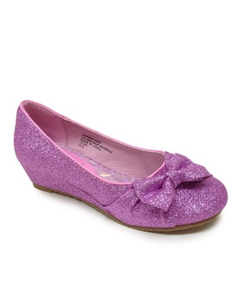 Purple Sophie Bow Flat