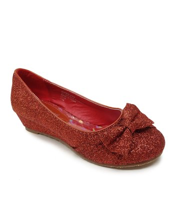 Red Sophie Bow Flat