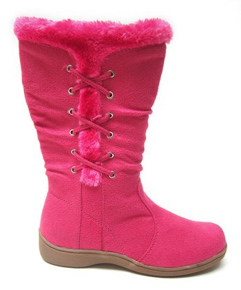 Hot Pink Winter Boot