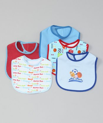Blue 'All Star' Bib Set