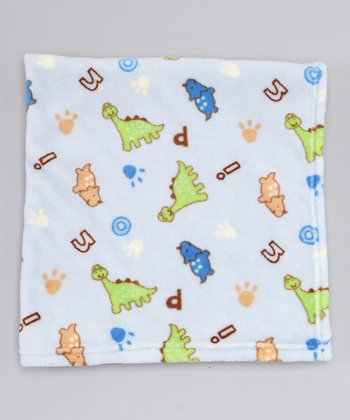 Blue Dinosaur Fleece Blanket