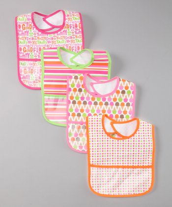 Pink Yummy Bib Set