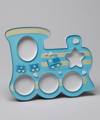 Blue Train 3-D Picture Frame