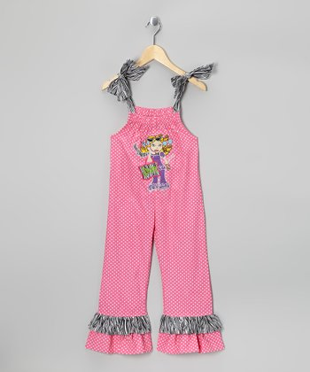 Pink 'Diva' Jumpsuit - Toddler & Girls
