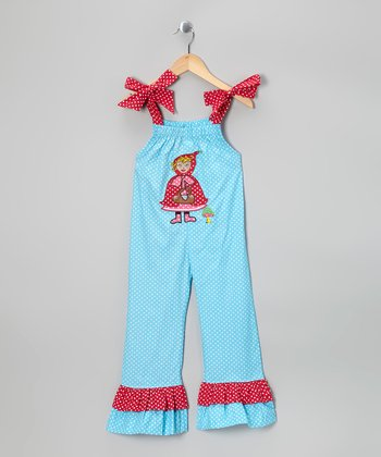Turquoise Red Riding Hood Jumpsuit - Infant, Toddler & Girls