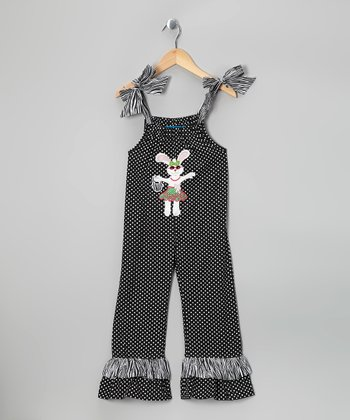 Black Bunny Jumpsuit - Toddler & Girls