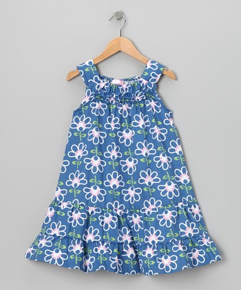 Blue Floral Dress - Infant & Girls