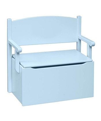 Pastel Blue Toy Box Bench