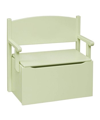 Pastel Green Toy Box Bench