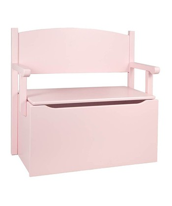 Soft Pink Toy Box Bench