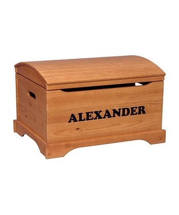Honey Oak Personalized Captain's Chest