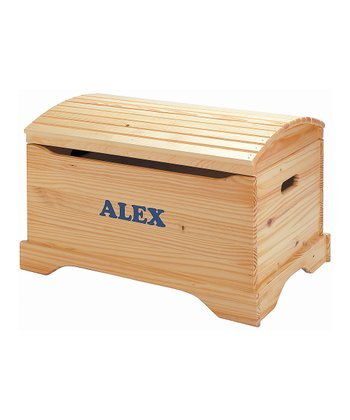 Natural Personalized Captain's Chest