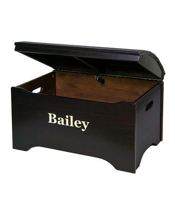 Espresso Personalized Treasure Chest