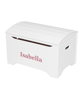 White Personalized Treasure Chest