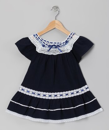 Navy Lucy Ibicenco Dress - Infant & Toddler