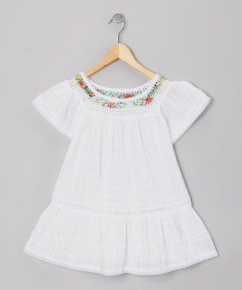 White Lucy Ibicenco Dress - Infant, Toddler & Girls