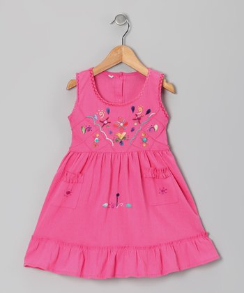 Hot Pink Leonor Dress - Infant & Toddler
