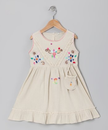 Beige Leonor Dress - Infant, Toddler & Girls