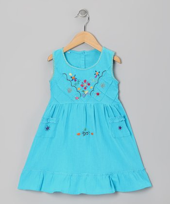 Aqua Leonor Dress - Infant, Toddler & Girls