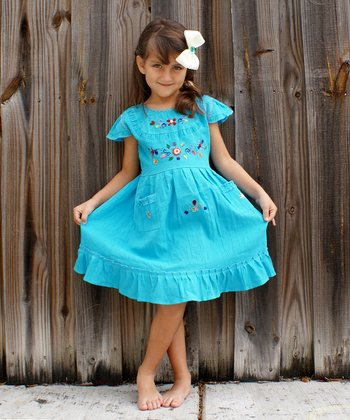 Aqua Leonor Dress - Infant & Toddler