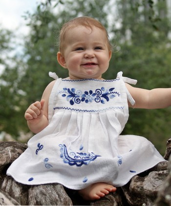 Monaco Blue Lorena Dress - Infant, Toddler & Girls