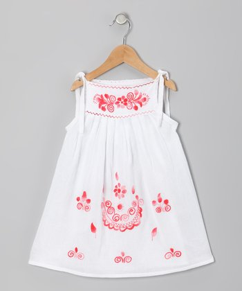 Coral Lorena Dress - Infant, Toddler & Girls