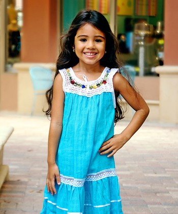 Dusk Blue Lucila Dress - Infant, Toddler & Girls