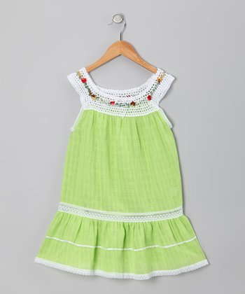 Lime Lucila Dress - Infant, Toddler & Girls
