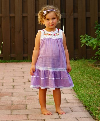 African Violet Lucila Yoke Dress - Infant, Toddler & Girls
