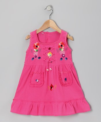 Hot Pink Lily Dress - Toddler