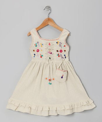 Beige Lily Dress - Toddler & Girls