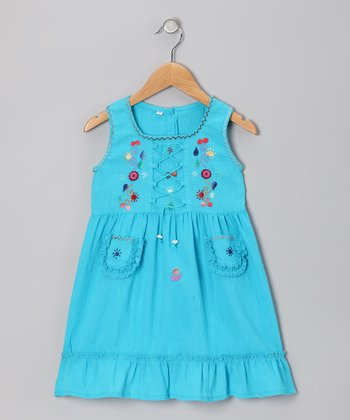 Teal Lily Dress - Infant, Toddler & Girls