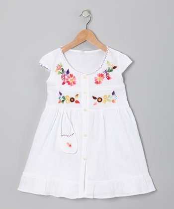 White Santy Dress - Infant, Toddler & Girls