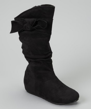 Black Candy Bow Boot