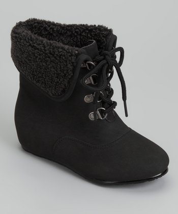 Black Fold-Over Boot