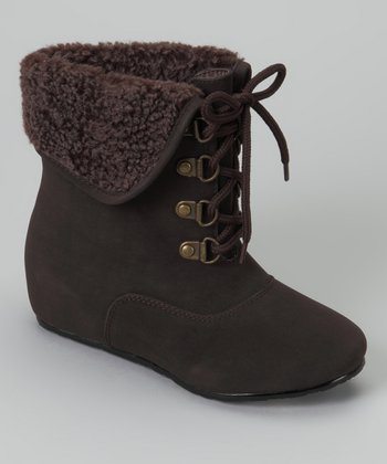 Brown Fold-Over Boot