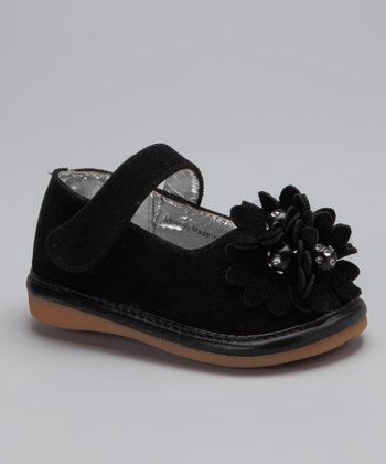 Black Suede Emma Squeaker Mary Jane