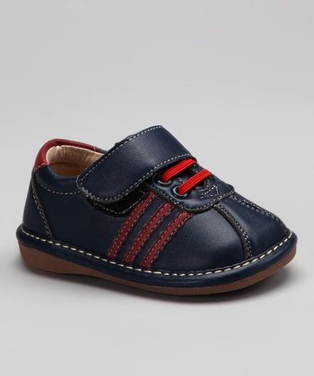 Black & Red Stripe Erik Squeaker Sneaker