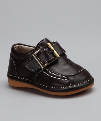 Brown Joshua Squeaker Shoe - Boys