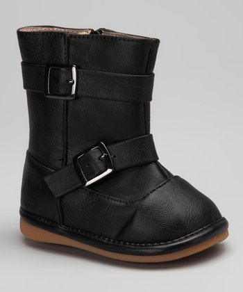 Black Buckle Sydney Squeaker Boot
