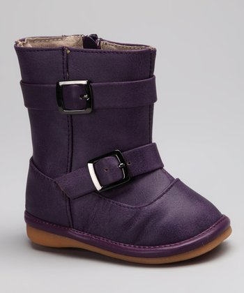 Purple Buckle Sydney Squeaker Boot