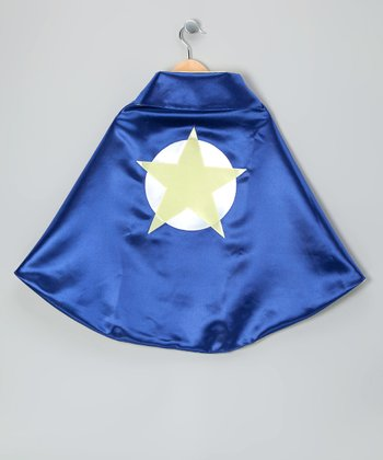 Blue & Yellow Soaring Star Two-Ply Hero Cape