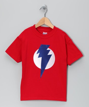 Red & Blue Lightning Leader Tee - Toddler & Kids