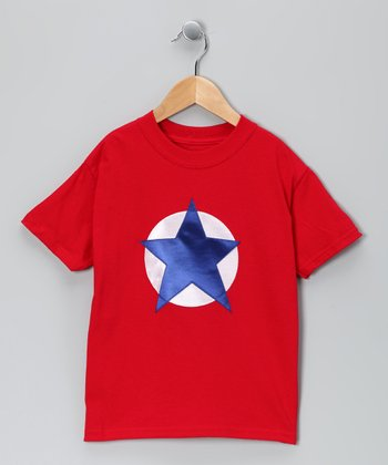 Red & Blue Soaring Star Tee - Toddler & Kids